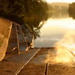 Frachter - Schlussszene Sonnenuntergang
